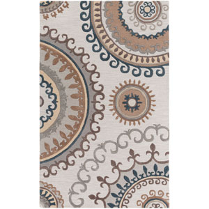 Lounge Alanna Beige and Gray Rectangular: 4 Ft. x 6 Ft. Area Rug