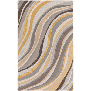 Lounge Carmen Gray and Gold Rectangular: 4 Ft. x 6 Ft. Area Rug
