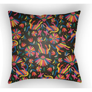 Lolita Pablo Multicolor 18 x 18 In. Pillow with Poly Fill
