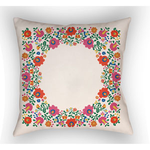 Lolita Camila Multicolor 18 x 18 In. Pillow with Poly Fill