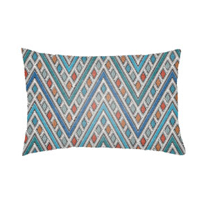 Lolita Leilani Royal Blue and Aqua 26 x 26 In. Pillow with Poly Fill