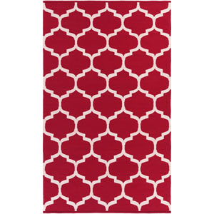 Vogue Everly Red and White Rectangular: 3 Ft x 5 Ft Rug