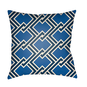 Litchfield Cabana Royal Blue and Navy Blue 22 x 22 In. Pillow with Poly Fill
