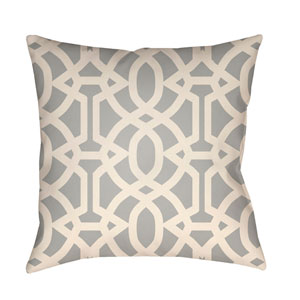 Litchfield Massey Gray and Ivory 18 x 18 In. Pillow with Poly Fill