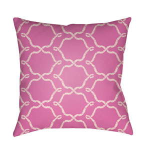 Litchfield Conway Fuchsia and Ivory 22 x 22 In. Pillow with Poly Fill