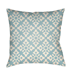 Litchfield Ladson Light Blue and Ivory 26 x 26 In. Pillow with Poly Fill