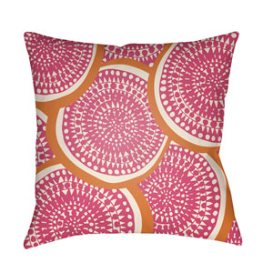 Litchfield Summerville Hot Pink and Ivory 18 x 18 In. Pillow with Poly Fill