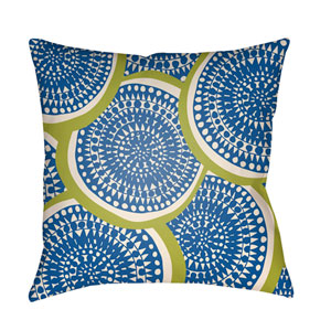 Litchfield Summerville Royal Blue and Ivory 16 x 16 In. Pillow with Poly Fill