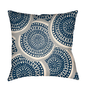 Litchfield Summerville Navy Blue and Ivory 26 x 26 In. Pillow with Poly Fill