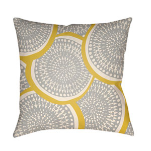 Litchfield Summerville Bright Yellow and Ivory 20 x 20 In. Pillow with Poly Fill