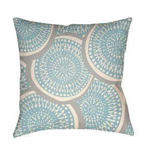 Litchfield Summerville Light Blue and Ivory 26 x 26 In. Pillow with Poly Fill