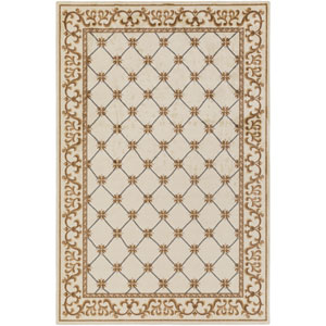 Madeline Alexis Ivory and Chocolate Rectangular: 2 Ft. x 3 Ft. Rug