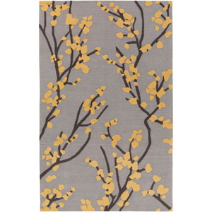 Marigold Caroline Gray and Yellow and Slate Rectangular: 7 Ft. 6-Inch x 9 Ft. 6-Inch Area Rug
