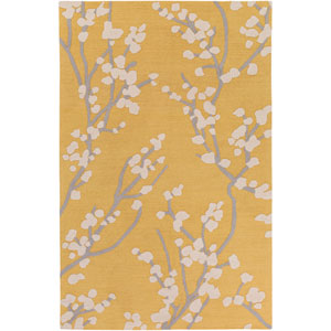 Marigold Caroline Yellow and Gray and Ivory Rectangular: 2 Ft. x 3 Ft. Area Rug
