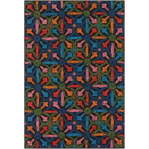 Mayan Nima Multicolor Rectangular: 2 Ft. x 3 Ft. Rug