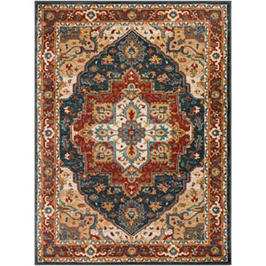 Nicea Rufus Charcoal and Teal Rectangular: 2 Ft. x 3 Ft. Rug