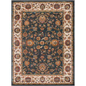 Nicea Nerva Charcoal and Teal Rectangular: 2 Ft. x 3 Ft. Rug