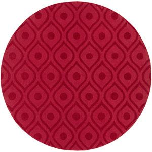 Central Park Zara Red Round: 6 Ft Rug