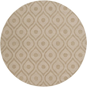 Central Park Zara Beige Round: 6 Ft Rug