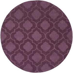 Central Park Kate Purple Round: 6 Ft Rug