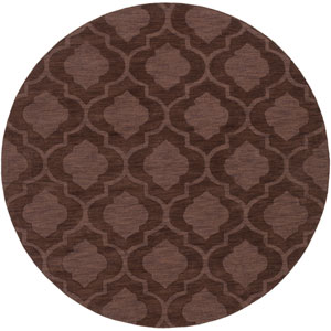 Central Park Kate Brown Round: 6 Ft Rug