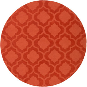 Central Park Kate Orange Round: 6 Ft Rug