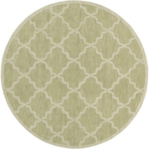 Central Park Abbey Sage Round: 6 Ft Rug