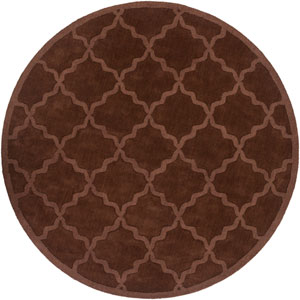 Central Park Abbey Brown Round: 6 Ft Rug