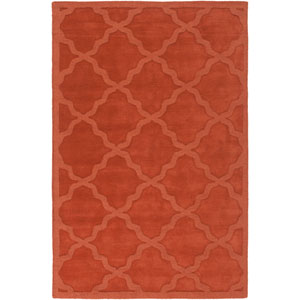 Central Park Abbey Rust Rectangular: 8 Ft x 10 Ft Rug