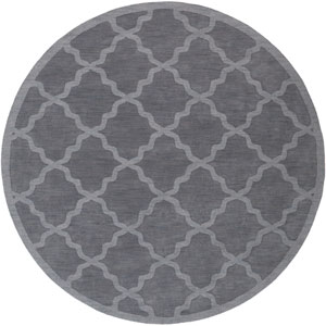 Central Park Abbey Charcoal Round: 6 Ft Rug