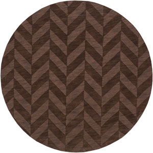 Central Park Carrie Brown Round: 6 Ft Rug
