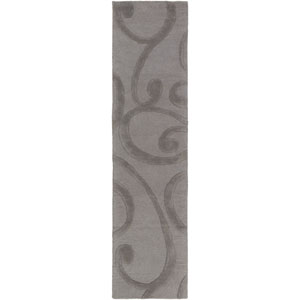 Poland Bailey Dark Gray Runner: 2 Ft. x 8 Ft.