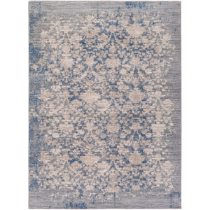 Potter Vicki Blue and Gray Rectangular: 5 Ft. 3-Inch x 7 Ft. 3-Inch Rug