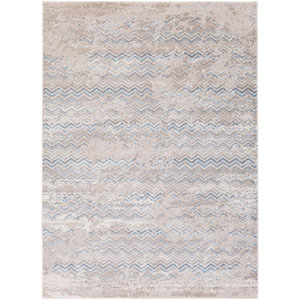 Potter Etta Gray and Blue Rectangular: 5 Ft. 3-Inch x 7 Ft. 3-Inch Rug