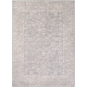 Potter Mona Gray and Ivory Rectangular: 5 Ft. 3-Inch x 7 Ft. 3-Inch Rug