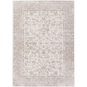 Potter Mona Ivory and Gray Rectangular: 5 Ft. 3-Inch x 7 Ft. 3-Inch Rug
