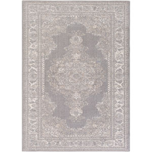Potter Alyssa Gray and Ivory Rectangular: 5 Ft. 3-Inch x 7 Ft. 3-Inch Rug