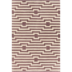 Transit Sawyer Purple and Ivory Rectangular: 5 Ft x 7 Ft 6 In Rug