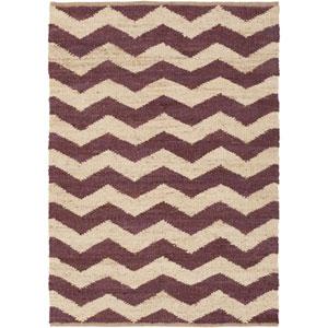 Portico Sadie Purple and Beige Rectangular: 9 Ft x 12 Ft Rug
