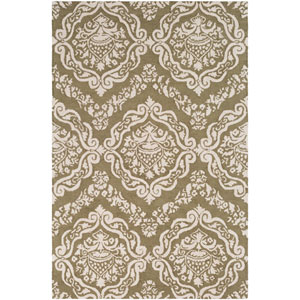 Rembrandt Kepler Olive Green and Beige Rectangular: 2 Ft. x 3 Ft. Rug