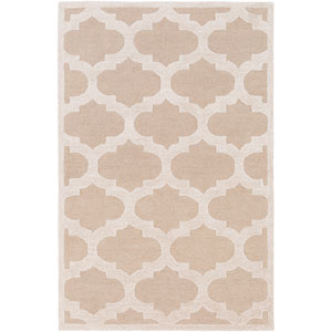 Arise Hadley Beige and Ivory Round: 3 Ft 6 In Rug