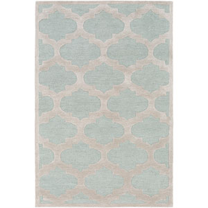 Arise Hadley Light Blue and Gray Round: 3 Ft 6 In Rug
