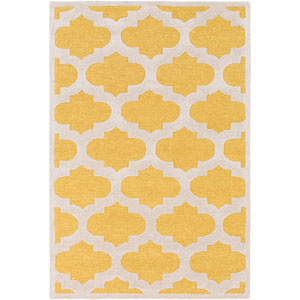 Arise Hadley Yellow and Ivory Round: 8 Ft Rug