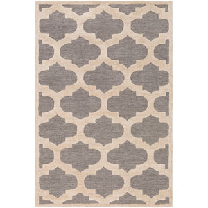 Arise Hadley Gray and Ivory Rectangular: 4 Ft x 6 Ft Rug