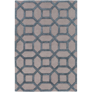 Arise Evie Light Gray and Blue Round: 3 Ft 6 In Rug