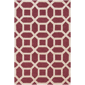 Arise Evie Maroon and Ivory Rectangular: 4 Ft x 6 Ft Rug