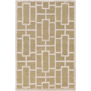 Arise Addison Tan and Ivory Round: 6 Ft Rug