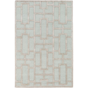 Arise Addison Light Blue and Ivory Round: 3 Ft 6 In Rug