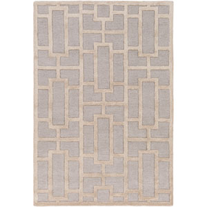 Arise Addison Light Blue and Beige Round: 3 Ft 6 In Rug