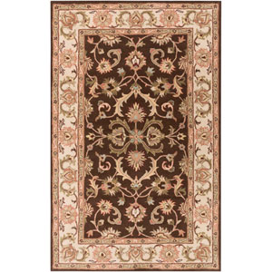 Oxford Aria Brown and Ivory Rectangular: 9 Ft x 13 Ft Rug